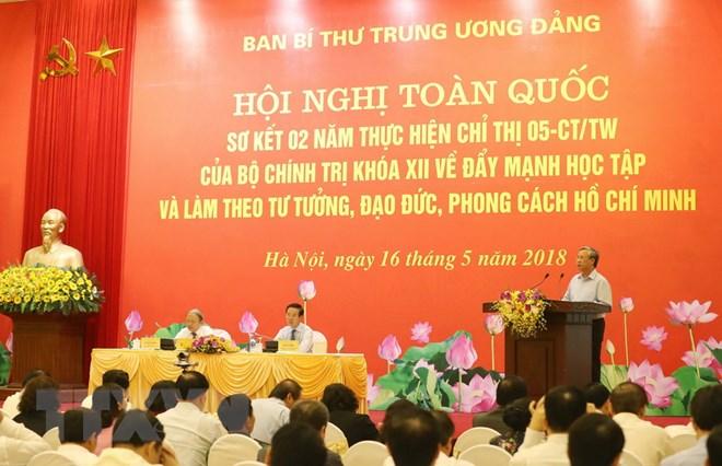 Hội nghị toàn quốc sơ kết hai năm thực hiện Chỉ thị số 05 về 'Đẩy mạnh học tập và làm theo tư tưởng, đạo đức, phong cách Hồ Chí Minh'
