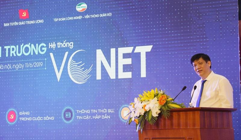 Đồng chí Nguyễn Thanh Long: VCNET phát huy hơn nữa những ưu điểm của một mạng xã hội, giúp cho việc lan toả các thông tin nhanh nhất, kịp thời nhất.