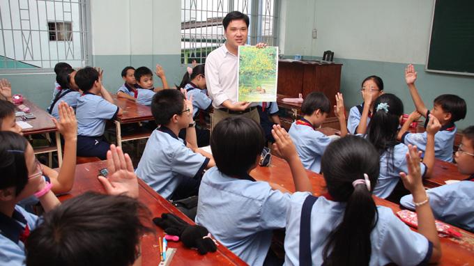 Một tiết dạy Giáo dục công dân. Ảnh: Tuổi trẻ