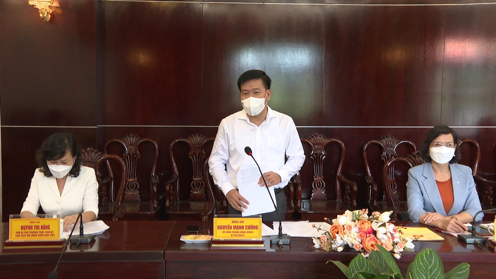 Bí thư Tỉnh ủy Bình Phước Nguyễn Mạnh Cường nhấn mạnh, tỉnh luôn quan tâm và coi trọng công tác tuyên truyền trong phòng, chống dịch COVID-19.